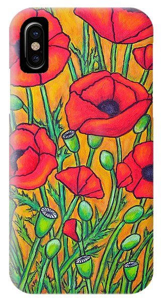 Tuscan Poppies - Crop 2 IPhone Case