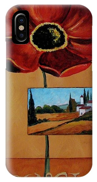 Tuscan Poppy Postcard IPhone Case