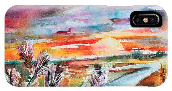 Tuscany Landscape Autumn Sunset Fields Of Rye IPhone Case