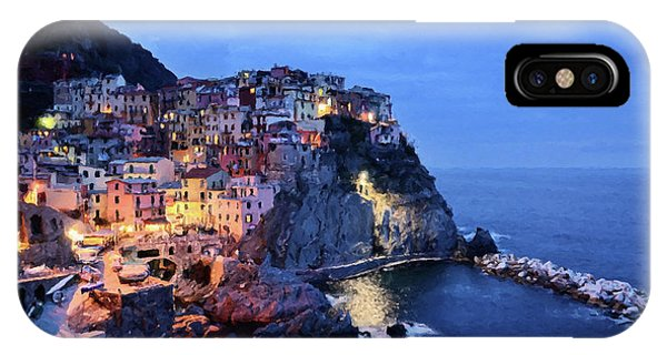 Tuscany Like Amalfi Cinque Terre Evening Lights IPhone Case