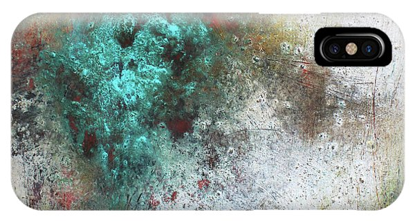 Teal iPhone Case - Tuscany Oil And Cold Wax by Patricia Lintner