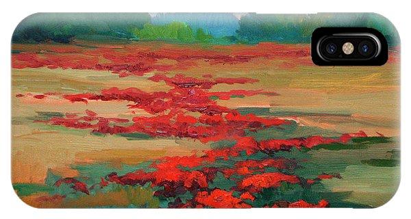Tuscany Poppy Field IPhone Case