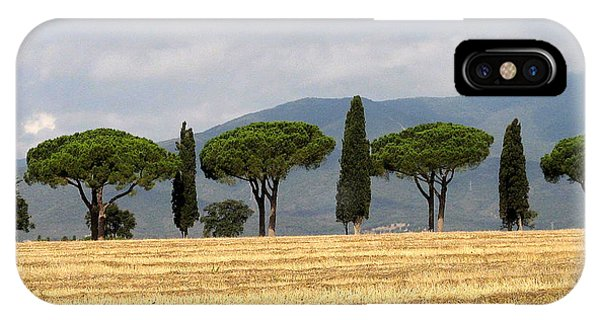 IPhone Case featuring the digital art Tuscany Trees by Julian Perry