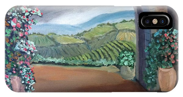 Tuscany Vineyards Through The Archway IPhone Case