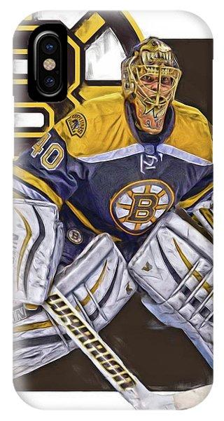 Puck iPhone Case - Tuukka Rask Boston Bruins Oil Art 1 by Joe Hamilton