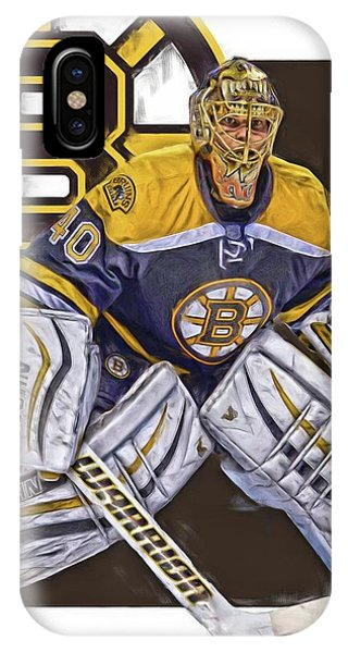 Winter iPhone Case - Tuukka Rask Boston Bruins Oil Art 1 by Joe Hamilton
