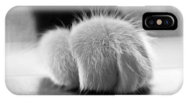 Tuxedo Cat Paw Black And White IPhone Case