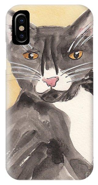 Tuxedo Cat With Attitude IPhone Case