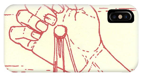 IPhone Case featuring the drawing Twelfth Station- Jesus Is Raised Upon The Cross And Dies  by William Hart McNichols