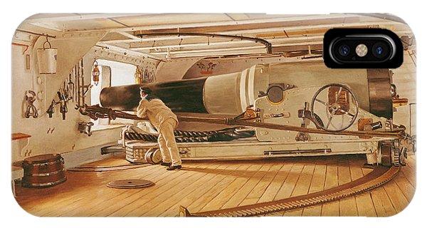 Twenty-seven Pound Cannon On A Battleship IPhone Case