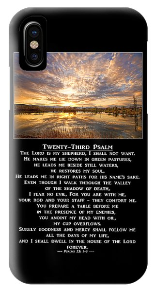 Twenty-third Psalm Prayer IPhone Case