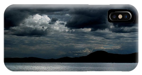 IPhone Case featuring the photograph Twice In A Blue Moon by Wayne King
