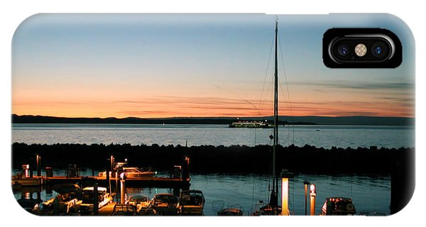 Twilight At Edmonds Marina IPhone Case