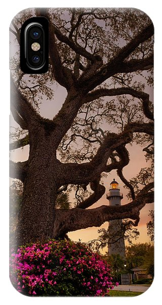 Twilight At St. Simons Lighthouse IPhone Case