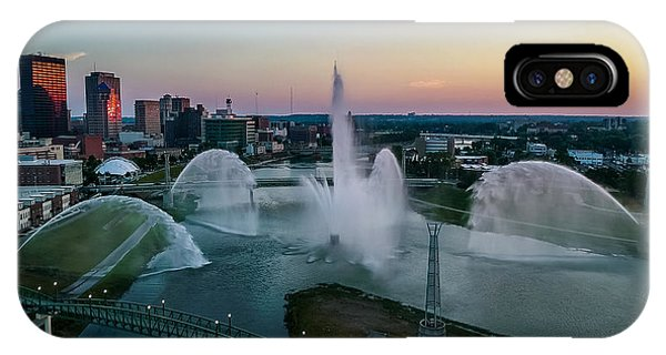 Twilight At The Fountains IPhone Case