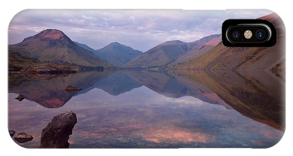 Twilight At Wastwater In Cumbria IPhone Case
