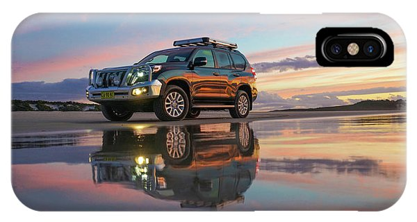 Twilight Beach Reflections And 4wd Car IPhone Case