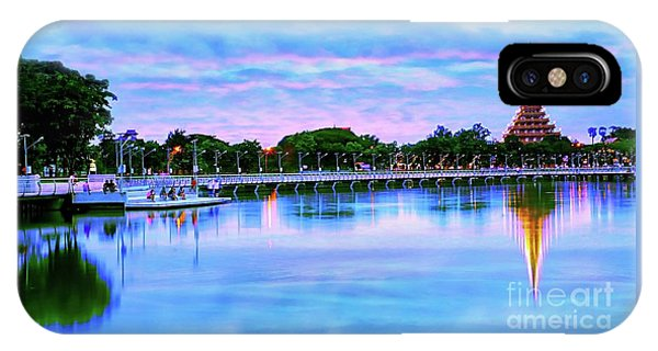 Twilight City Lake View IPhone Case