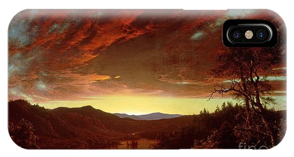 Great Lakes iPhone Case - Twilight In The Wilderness by Frederic Edwin Church