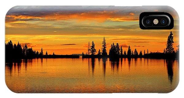 Twilight Lake Reflections In Colorado IPhone Case