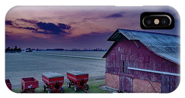 Twilight On The Farm IPhone Case