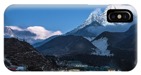 Twilight Over Pangboche In Nepal IPhone Case