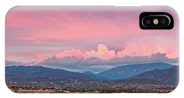 Twilight Panorama Of Sangre De Cristo Mountains And Santa Fe - New Mexico Land Of Enchantment IPhone Case
