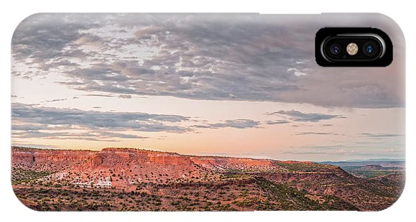 Sangre De Cristo iPhone Case - Twilight Panorama Over Kwage Mesa From White Rock Over by Silvio Ligutti