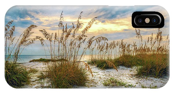 IPhone Case featuring the photograph Twilight Sea Oats by Steven Sparks