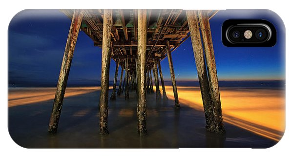 Twilight Under The Imperial Beach Pier San Diego California IPhone Case