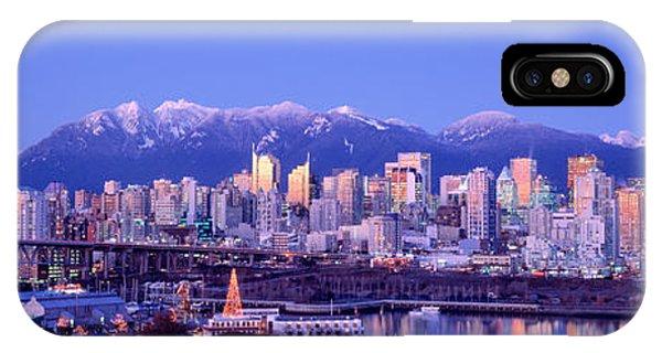 Twilight, Vancouver Skyline, British IPhone Case