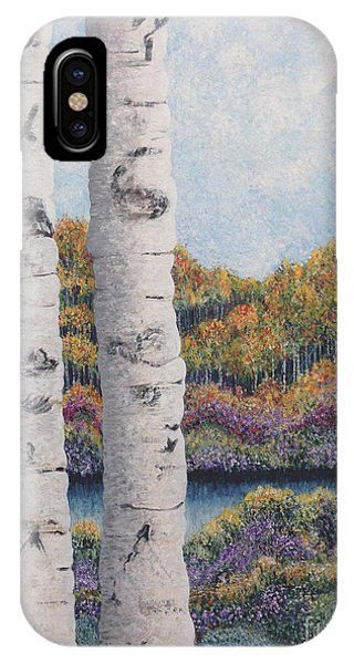 Twin Aspens IPhone Case