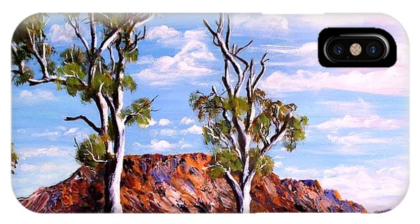Twin Ghost Gums Of Central Australia IPhone Case
