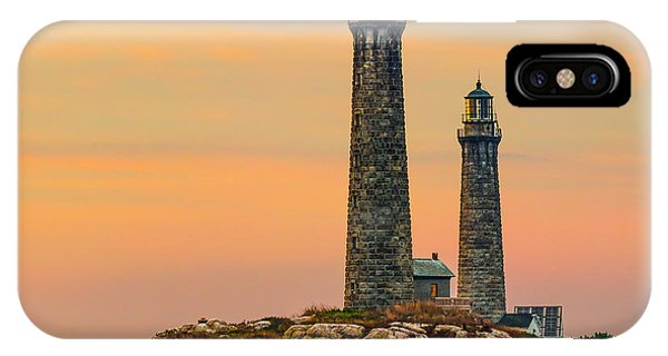 Twin Lights With Morning Glow IPhone Case