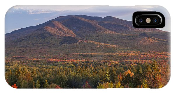 Twin Mountain Autumn Sunset IPhone Case