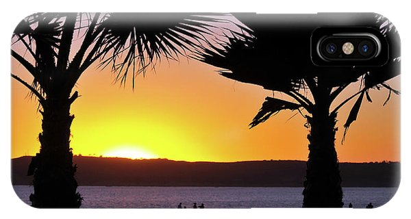 Twin Palms At Sunset IPhone Case