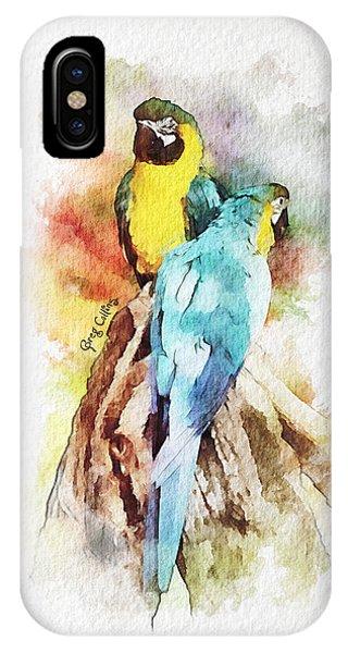 Twin Parrots IPhone Case
