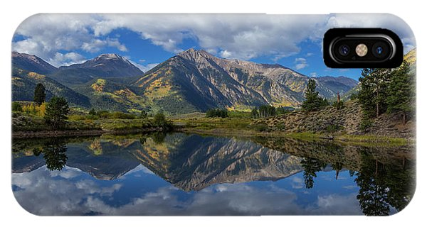 Fourteener iPhone Case - Twin Peaks Reflection Autumn Reflection by Bridget Calip