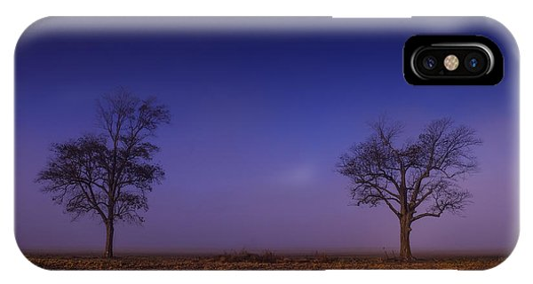 Twin Trees In The Mississippi Delta IPhone Case