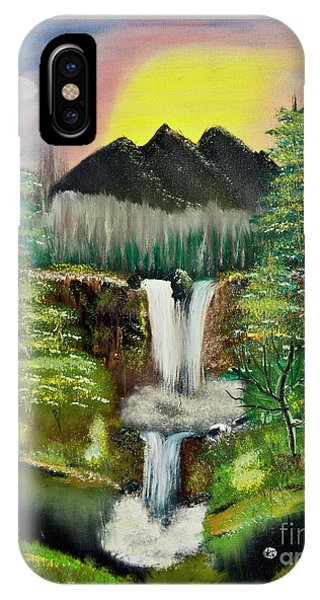 Twin Waterfalls IPhone Case
