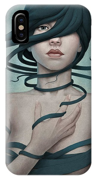 Portraits iPhone Case - Twisted by Diego Fernandez