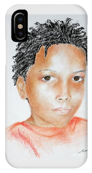 Twists, At 9 -- Portrait Of African-american Boy IPhone Case
