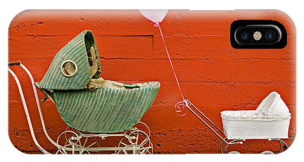 Celebration iPhone Case - Two Baby Buggies  by Garry Gay