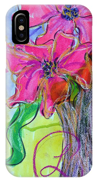 Two Big Pink Blooms IPhone Case