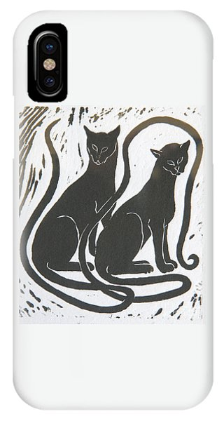 Two Black Felines IPhone Case