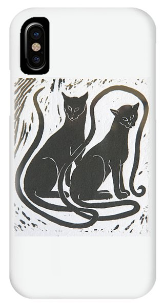 Two Black Felines IPhone Case