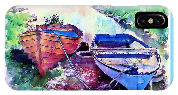 Two Boats On A Shore IPhone Case