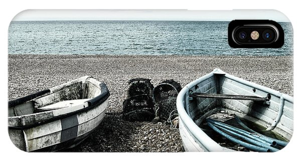 Two Boats On Seaford Beach IPhone Case
