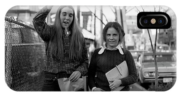 Two Brown Students, Thayer Street, Providence, 1972 IPhone Case