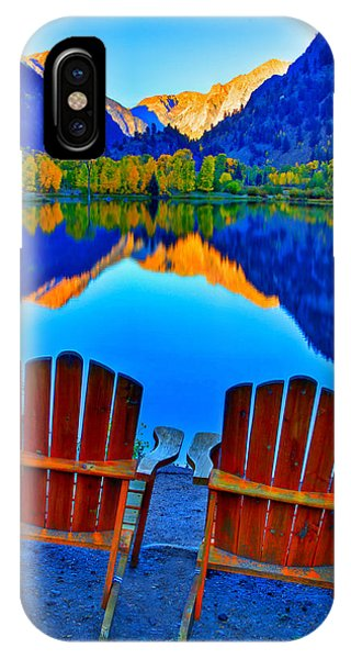 Rocky Mountain iPhone Case - Two Chairs In Paradise by Scott Mahon